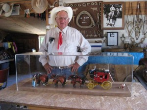 Ernie with his Stagecoach wood